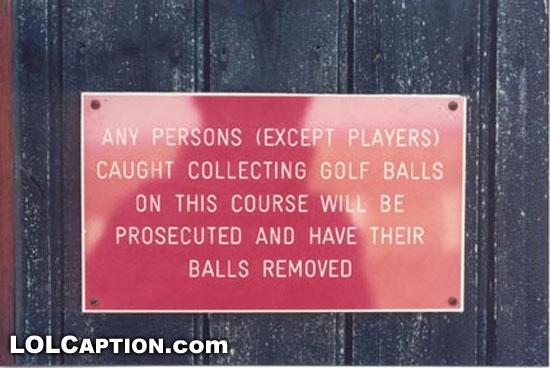 balls removed, golf
