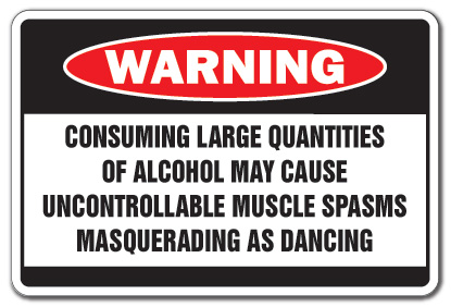 alcohol causes muscle spasm dancing