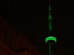 green cn tower