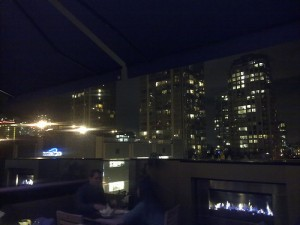 View from the rooftop bar of The Keg restaurant in Yaletown