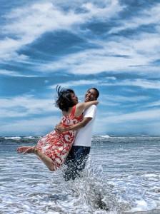 Happy Couple Vacation Paradise